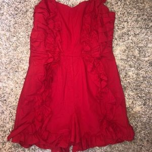 never been worn- red Urban Outfitters romper